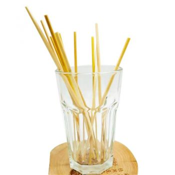 100PCS Natural Wheat Straw 100% biodegradable Straws Environmentally Friendly Portable Drinking Straw Bar Kitchen Accessories