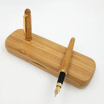 Vintage Elegant Bamboo Fountain Pen with Box for Business Gifts Luxury Brand Office Writing Pens