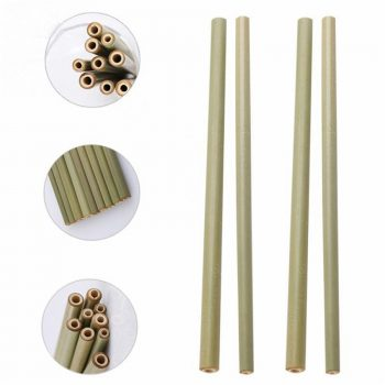 15Pc/Set 20cm Bamboo Straw Reusable Drinking Straws For Party Birthday Wedding Bar Tool